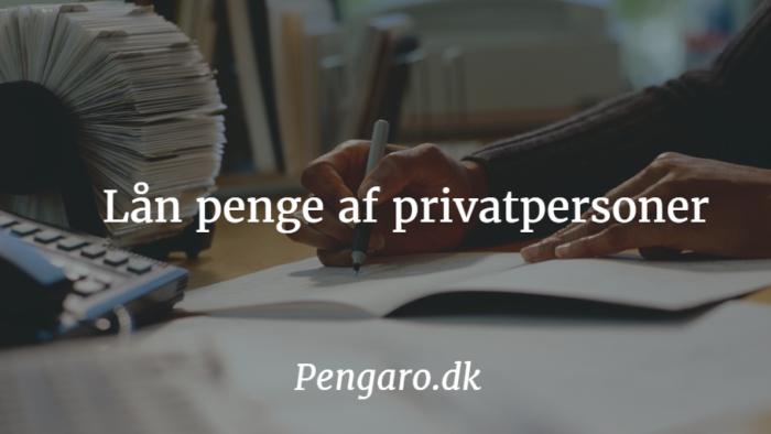 Lån penge af privatpersoner